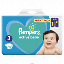 PAMPERS ACTIVE BABY 3 MIDI 90 KS