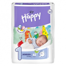 BELLA HAPPY NEWBORN PLIENKY 2-5 KG 42 KS