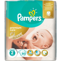 PAMPERS PREMIUM CARE 2 MINI 3-6 KG 80 KS