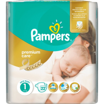 PAMPERS PREMIUM CARE 1 MP NEWBORN 22KS