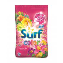 SURF TROPICAL LILY & YLANG YLANG PRACÍ PRÁŠOK COLOR 1,4 kg 20 PD