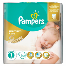 PAMPERS PREMIUM NEWBORN 2-5 KG 88 KS