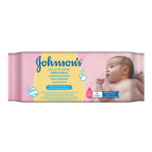 JOHNSONS BABY VLHČENÉ UTIERKY SENSITIVE 56 KS
