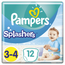PAMPERS SPLASHERS PLIENKY DO VODY 6-11KG 12 KS