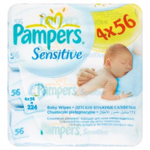 PAMPERS WIPES SENSITIVE 4 X 56 KS