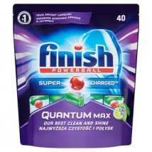 FINISH TABLETY DO UMÝVAČKY QUANTUM MAX APPLE A LIME 40 KS
