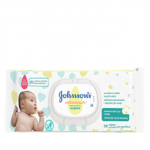 JOHNSONS BABY VLHČENÉ UTIERKY COTTON 56 KS