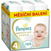 PAMPERS PREMIUM CARE 4 MAXI 8-14KG 168 KS