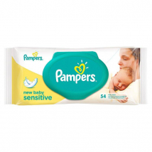 PAMPERS VLHČENÉ UTIERKY NEW BABY SENSITIVE CLIP 54 KS