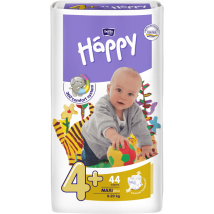 BELLA HAPPY MAXI PLUS Č.4+ 9-20 KG 44 KS